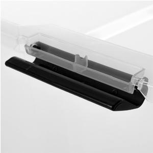 Boîte de rangement sous lit en plastique robuste avec roulettes Top Box Underbed par Iris Ohyama