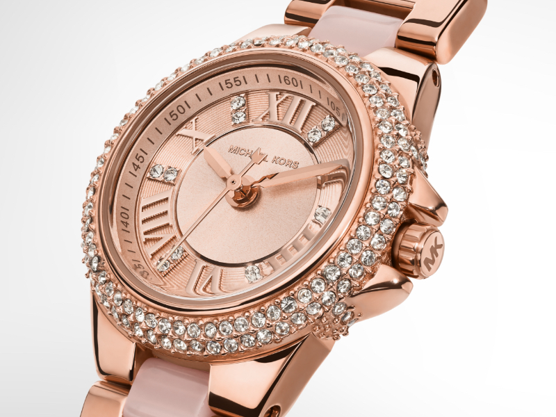 Michael Kors Womens Rose gold watch, valentines day watch