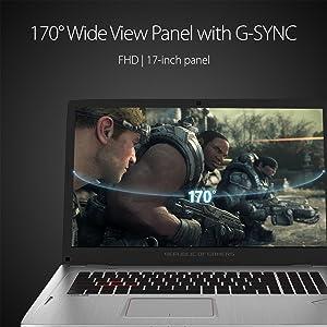 """ROG Strix GL702VM 17.3"""" G-SYNC VR Ready Thin and Light Gaming Laptop NVIDIA GTX 1060 Intel i7-7700HQ"""
