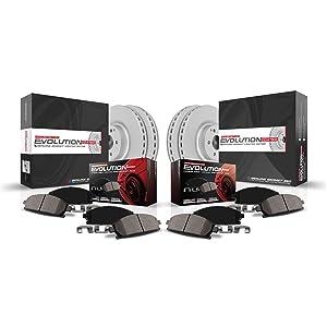 Power Stop CRK6279 Rear Z23 Evolution Sport Geomet Coated Brake Kit