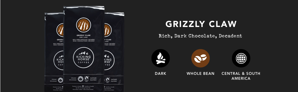 Grizzly Claw, Kicking Horse Coffee, 1 lb Whole Bean Bag