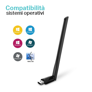 Archer T2U Plus, adattatore wireless, tplink