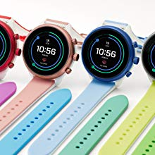Watch with colourful straps