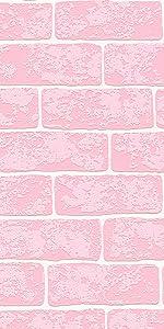 Wood and Stone behang steenlook, natuur, realistisch, landhuis, modern, roze, wit