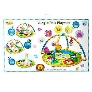 Amazon Com Winfun Jungle Pals Play Mat Baby
