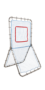 Champion Sports Rebound Pitchback Net, Adjustable Training Bounceback Screen