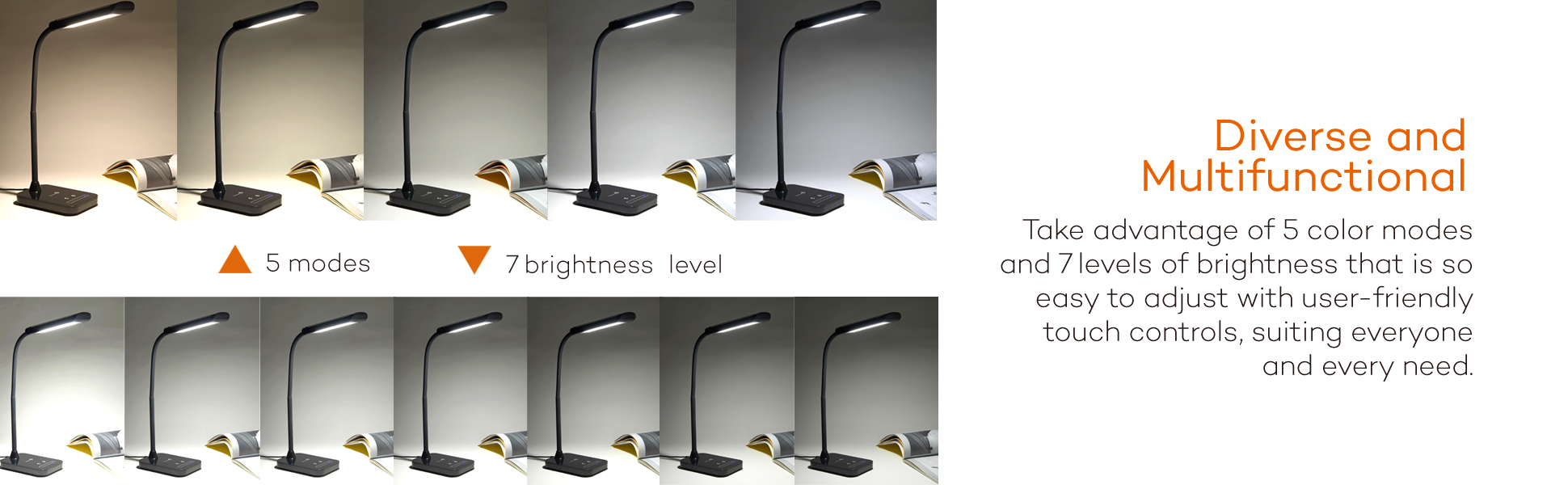 Led Flexible Gooseneck Table Lamp 7w Tt Dl11 Black