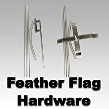 Swooper Flutter Feather Flag plus Pole /& Ground Spike CAMPGROUND Cartoon Yellow White Red