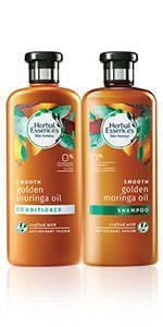 herbal essences Golden Moringa Oil shampoo conditioner collection