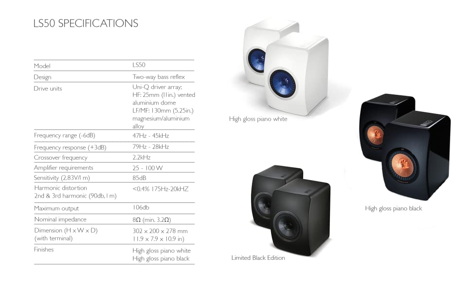 LS50 Specifications