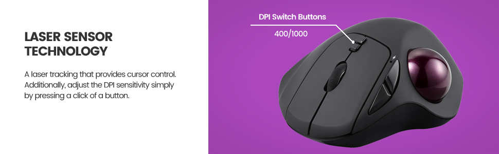 mouse with laser sensor and adjustable DPI 400 1000 switch