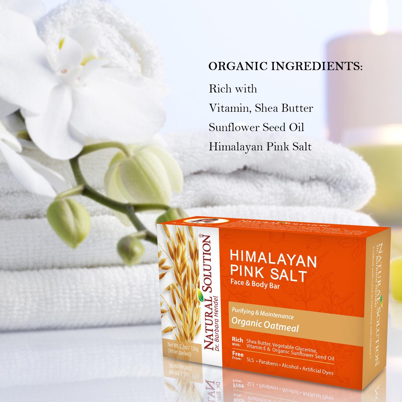 Soap Bar Oatmeal Natural Solution Nature Republic Himalaya Salt Cleansing Balm Pink Himalayan