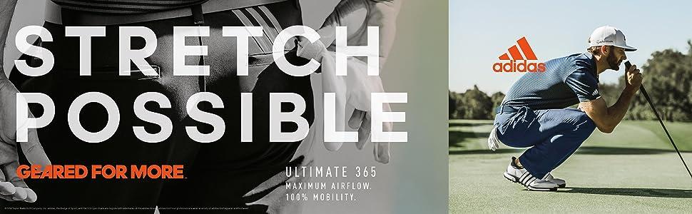 b54deea54738 Amazon.com   adidas Golf 2019 Ultimate 3-Stripe Trousers Stretch ...
