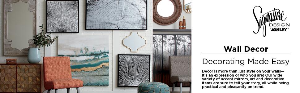 wall, decor, art, shelves