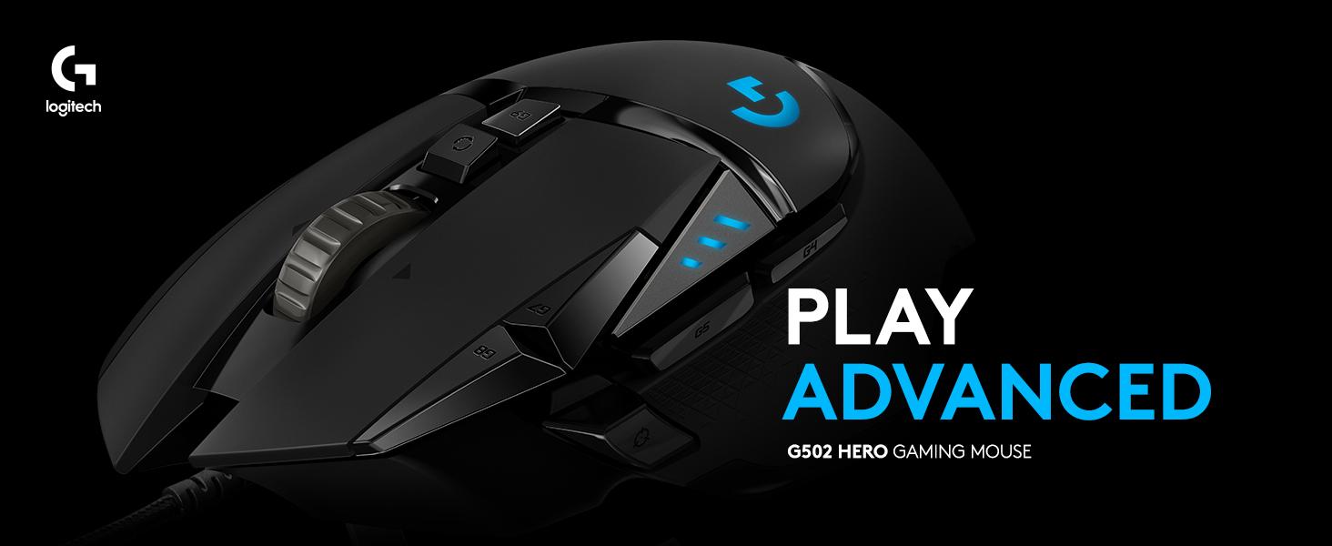 d24fb5c0e64 Logitech G502 HERO Gaming Mouse with HERO Sensor (RGB Mice, 16'000 ...