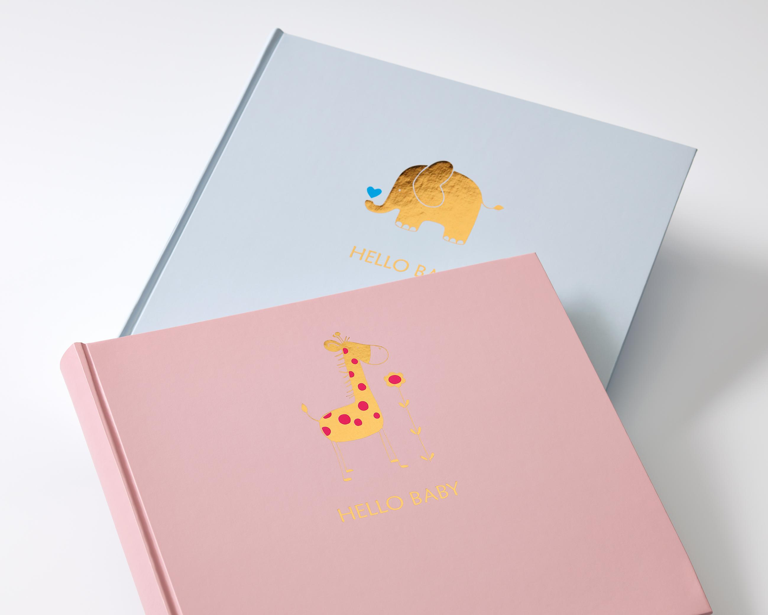walther design UK-148-L Babyalbum Baby Animal, Blau, 25x28 cm ...