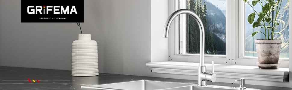 Negro GRIFEMA G154B-1 Irismart Monomando Empotrar para Bid/é WC Agua Caliente y Fria Flexo Soporte y Manguera con Ducha Mano