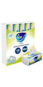 Fine sterilized tissues