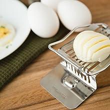 egg slicer; stainless steel egg slicer; hard boiled eggs slicer; boiled egg slicer