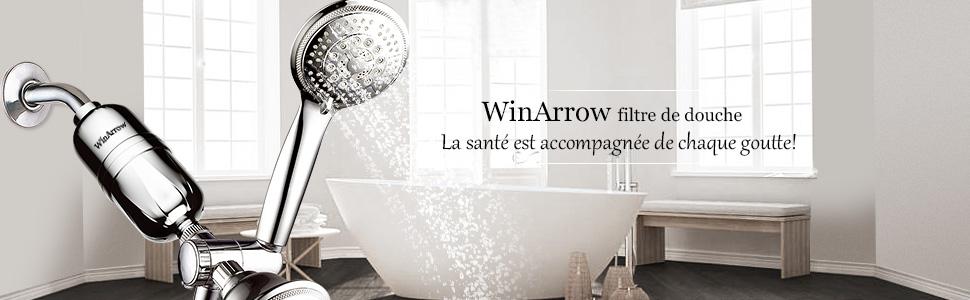 WinArrow Cartouche de Filtre Rempla/çable WA880 Cartouche Filtrante de Douche pour WA550