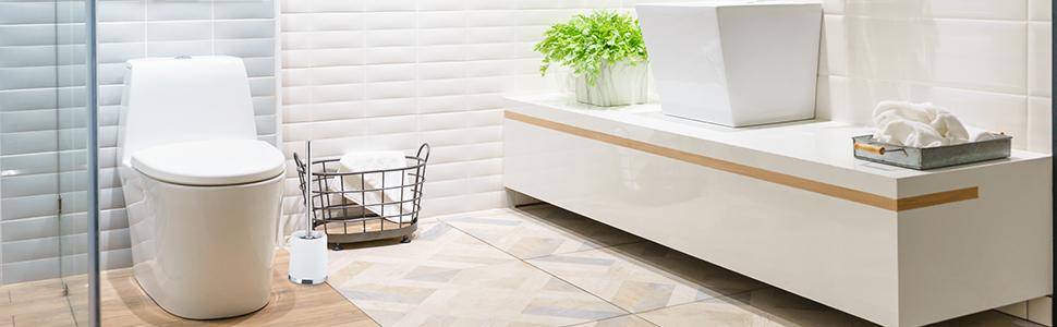 Relaxdays Toilettenpapierhalter Stehend Pagnoni Rollenhalter Toilettenpapier 4 Ersatzrollen Hbt 71x20x20 Cm Silber Amazon De Küche Haushalt Wohnen