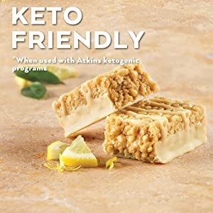 atkins low carb keto friendly snack bar