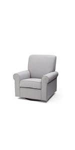 delta children upholstered swivel glider rocker chair nursery furniture