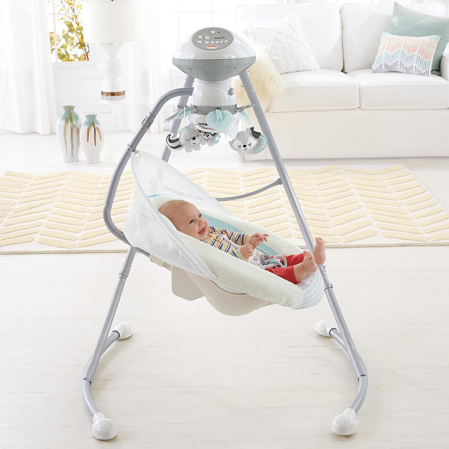 Amazon.com : Fisher-Price Moonlight Meadow Cradle 'n Swing, White : Baby