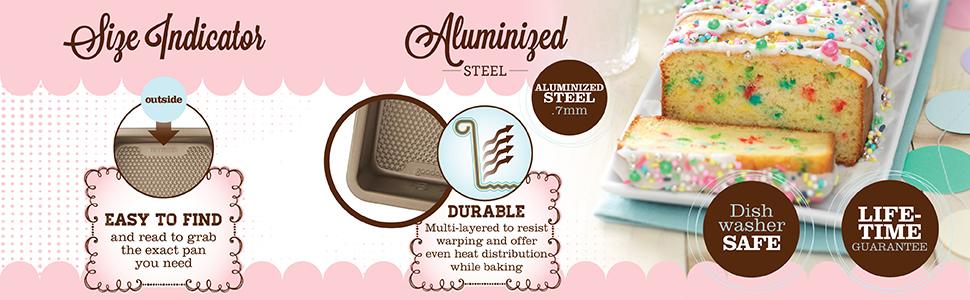 sweet creations goodcook textured nonstick loaf pan bakeware bake ware