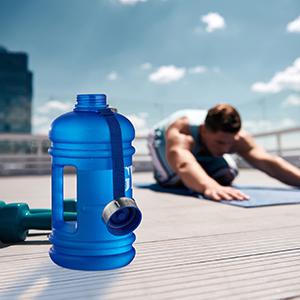 Bluefinity Bouteille d/'Eau 2,2 L Gym Gourde Sport Camping XXL bidon d/'Eau Fitness jerrican Gym sans BPA et Phtalate