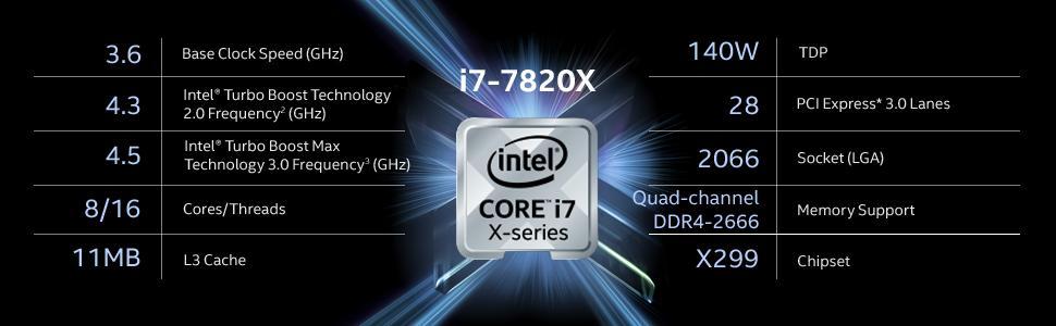 Intel i7, Intel X Series, BX80673I77820X