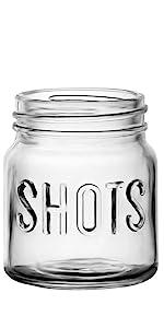 Shot glasses mason jar style