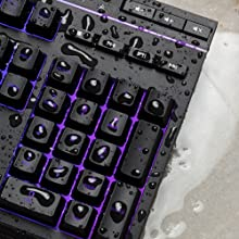 Spill resistant keyboard with a durable frame