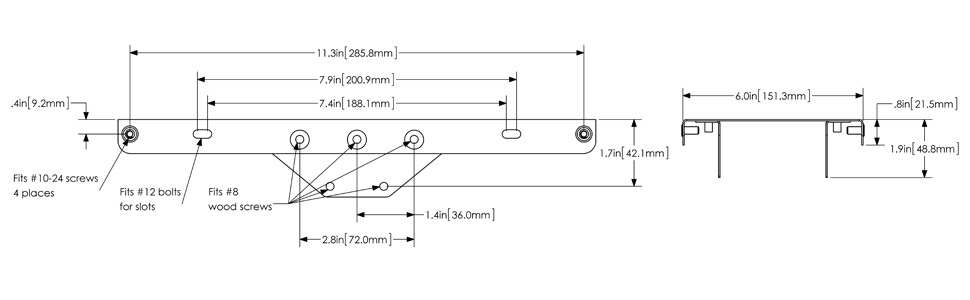 mailbox mounting plate dimensions