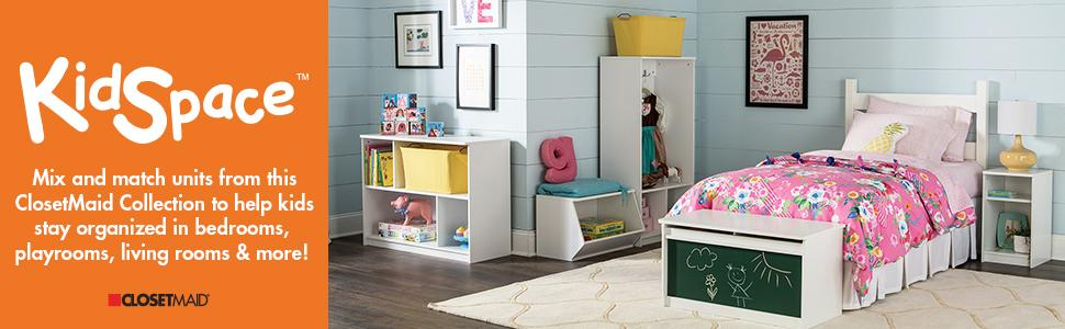 ClosetMaid 1492 KidSpace Mobile Toy Chest, White