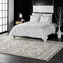 rug, shag, plush, area rug, colorful