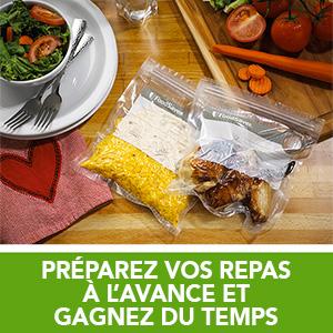 préparez vos repas à l'avance et gagnez de temps