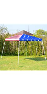 Amazon Com Outsunny Easy Pop Up Canopy Tent With Mesh Side Walls 10 Feet X 10 Feet Tan Pop