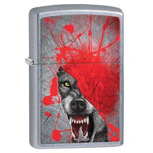 zippo lighter, color image, zippo color image lighter, street chrome lighter, wolf lighter