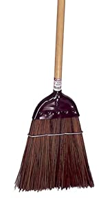 """Weiler 70324 Track amp; Switch Upright Cap Broom, Palmyra Fill, 55"""" Overall Length, Pack of 6"""