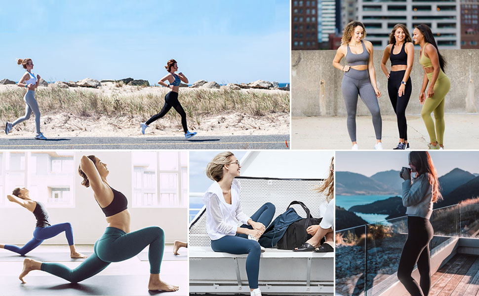 Reg /& Plus Size High Waisted Leggings for Women Soft Athletic Tummy Control Pants for Running Cycling Yoga Workout