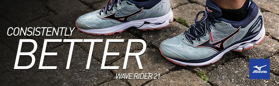 00bef2eee8029 Amazon.com | Mizuno Wave Rider 21 Women's Running Shoes | Road Running