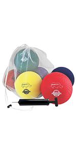 Champion Sports Playground Ball Set: 7 Inch Rhino Skin Soft Inflatable Balls