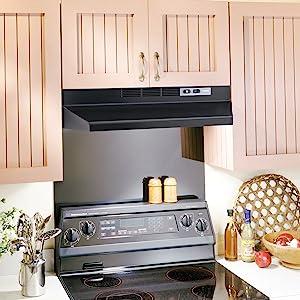 Broan 413023 Under Cabinet Range Hood, Black, 30 Inch