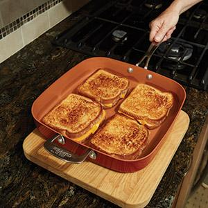 Amazon Com Red Copper Cookware 12 Inch Square Frying Pan