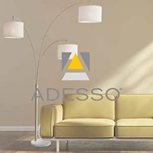 Adesso 4050 15 Lexington 22 5 Quot Table Lamp Lighting Fixture With Walnut Wood Body Smart Switch