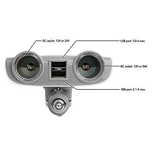 DC splitter, socket splitter, socket extender, car USB charger, usb dc split, power splitter car