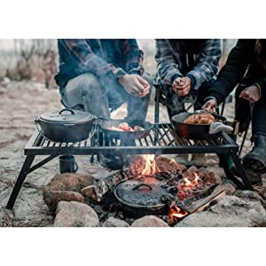 camping grill fire pit flame