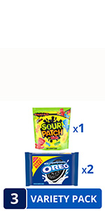OREO Original Chocolate Sandwich Cookies & SOUR PATCH KIDS Candy Sweet & Sour Snacks Variety Pack