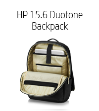"HP 15.6 Duotone Backpack - 15.6"" gold (4QF96AA)"